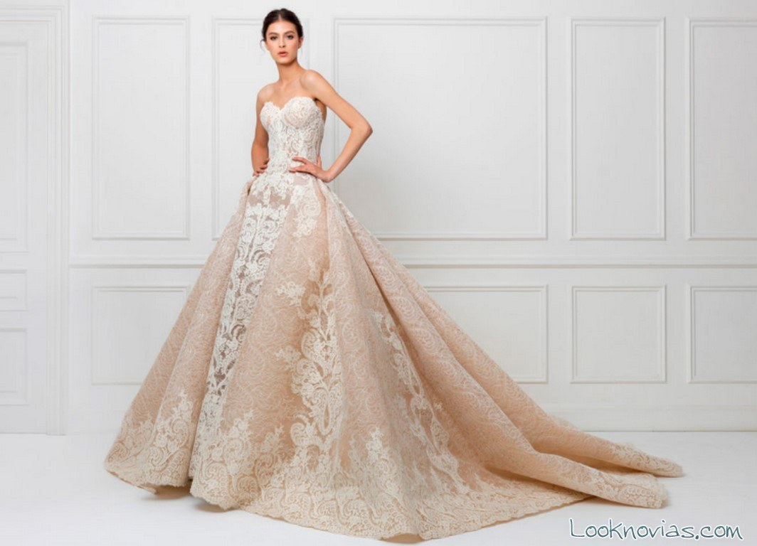 traje de novia color princesa maison yeya