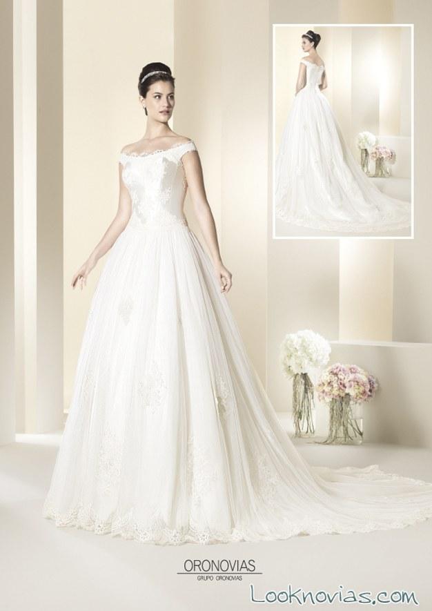 traje de novia oronovias con escote