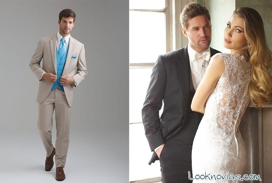 trajes de color para novio