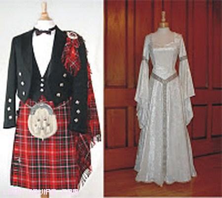 vestidos típicos para bodas celtas