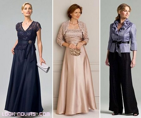 trajes elegantes para madres novios