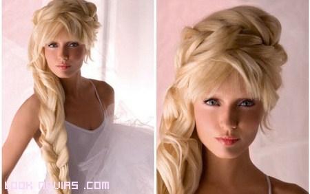 trenzas pelo largo para novias modernas