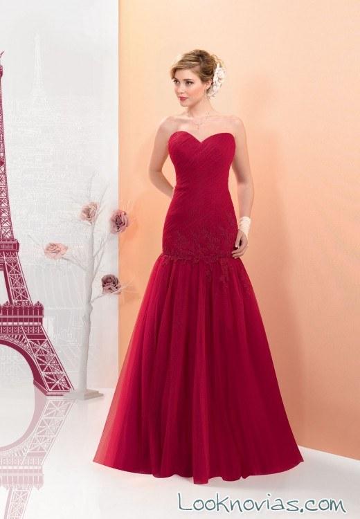 vestido ajustado color rojo bodas