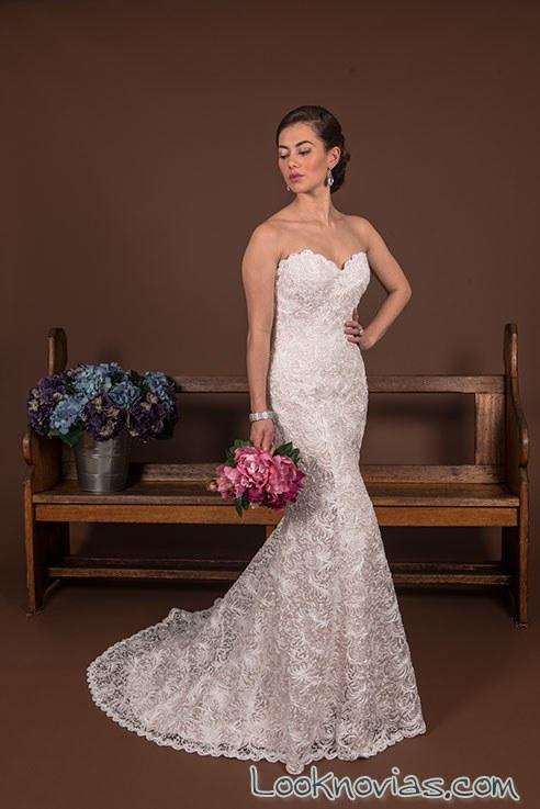 vestido ajustado de corte sirena novias