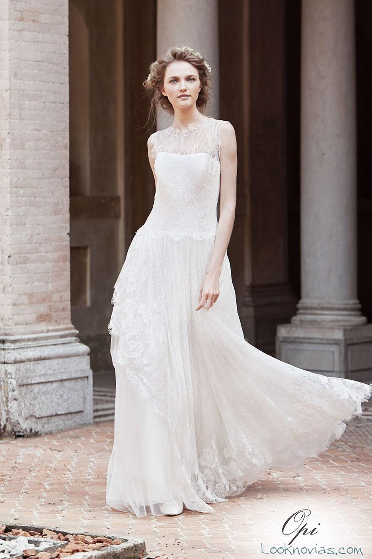 vestido alberta ferretti con escote fantasía