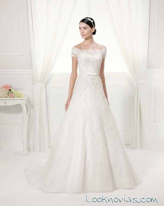 vestido alma novia con corte clásico
