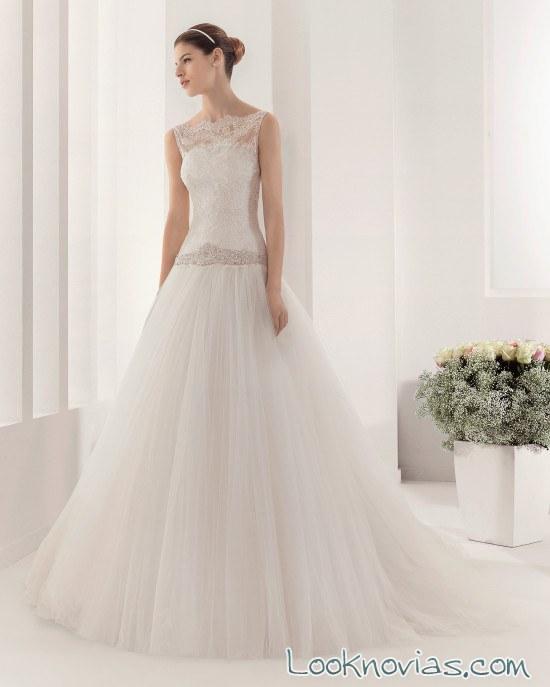 vestido alma novia con escotes