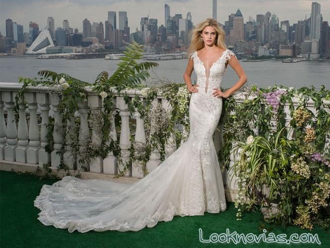 vestido amalia carrara para novias románticas