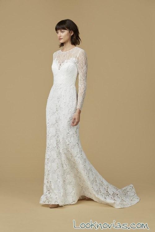 vestido amsale con mangas blanco