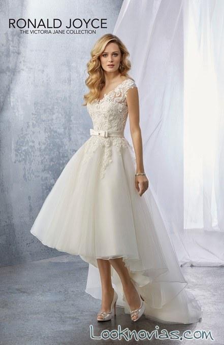 vestido asimétrico en blanco ronald joyce