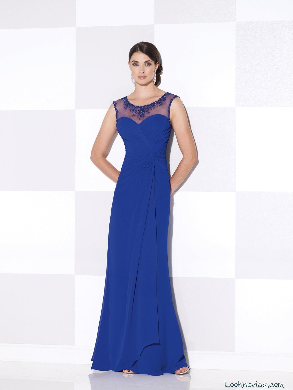 vestido azul cameron blake