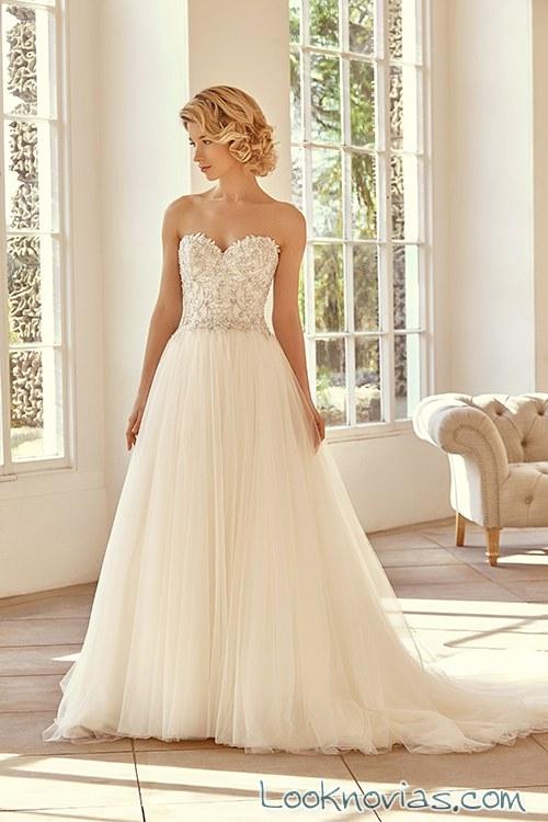vestido benjamin falda plisada novias