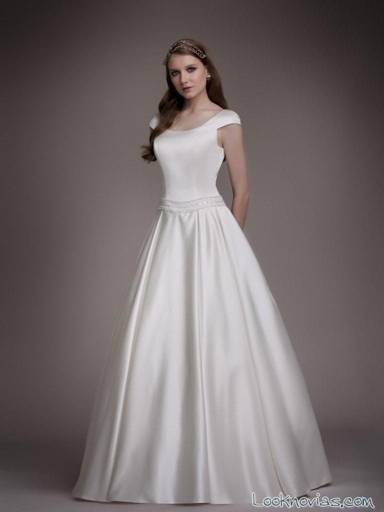 vestido blancary satinado