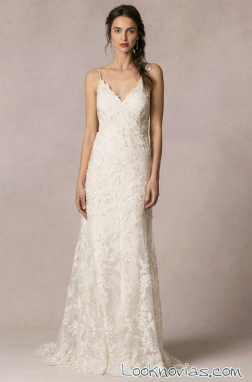vestido blanco bordados jenny yoo