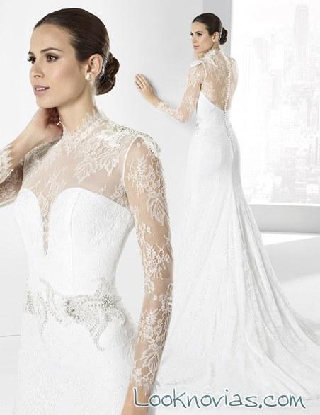vestido blanco con mangas de franc sarabia
