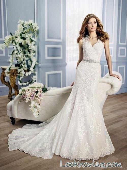 vestido blanco corte recto novias moonlight
