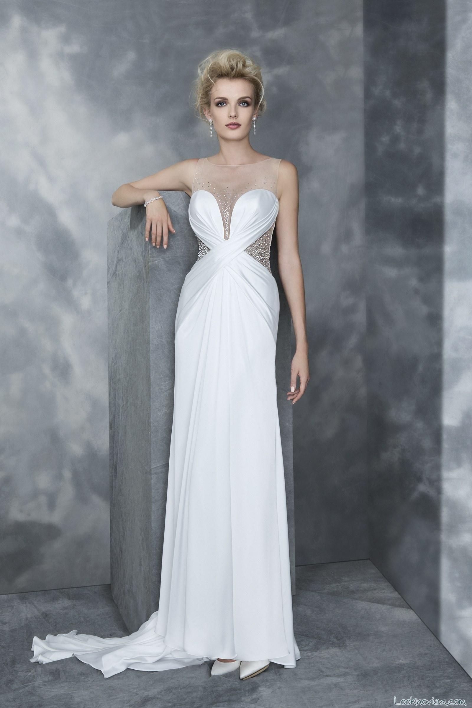 vestido blanco cruzado novias