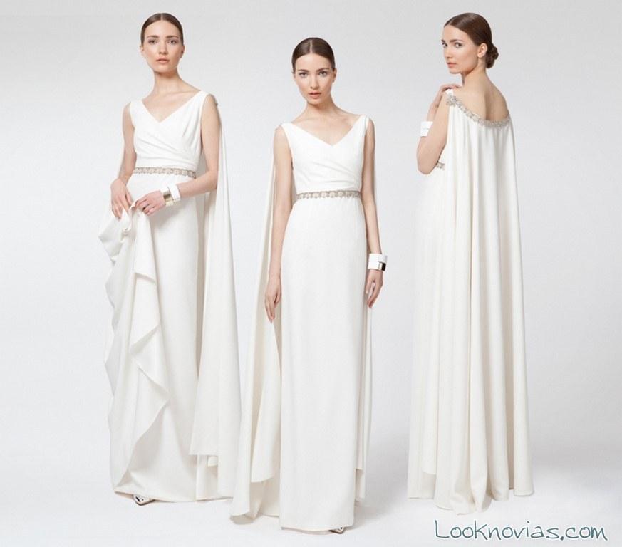 vestido blanco de corte griego santos costura