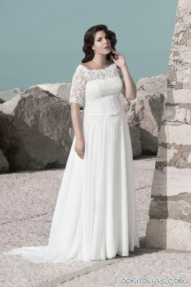vestido blanco de manga corta con encajes