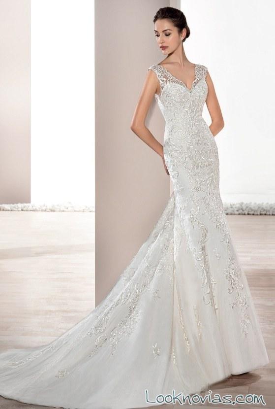 vestido blanco de novia strapless demetrios 2017