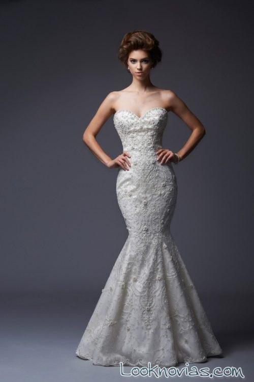 vestido blanco de novias corte recto