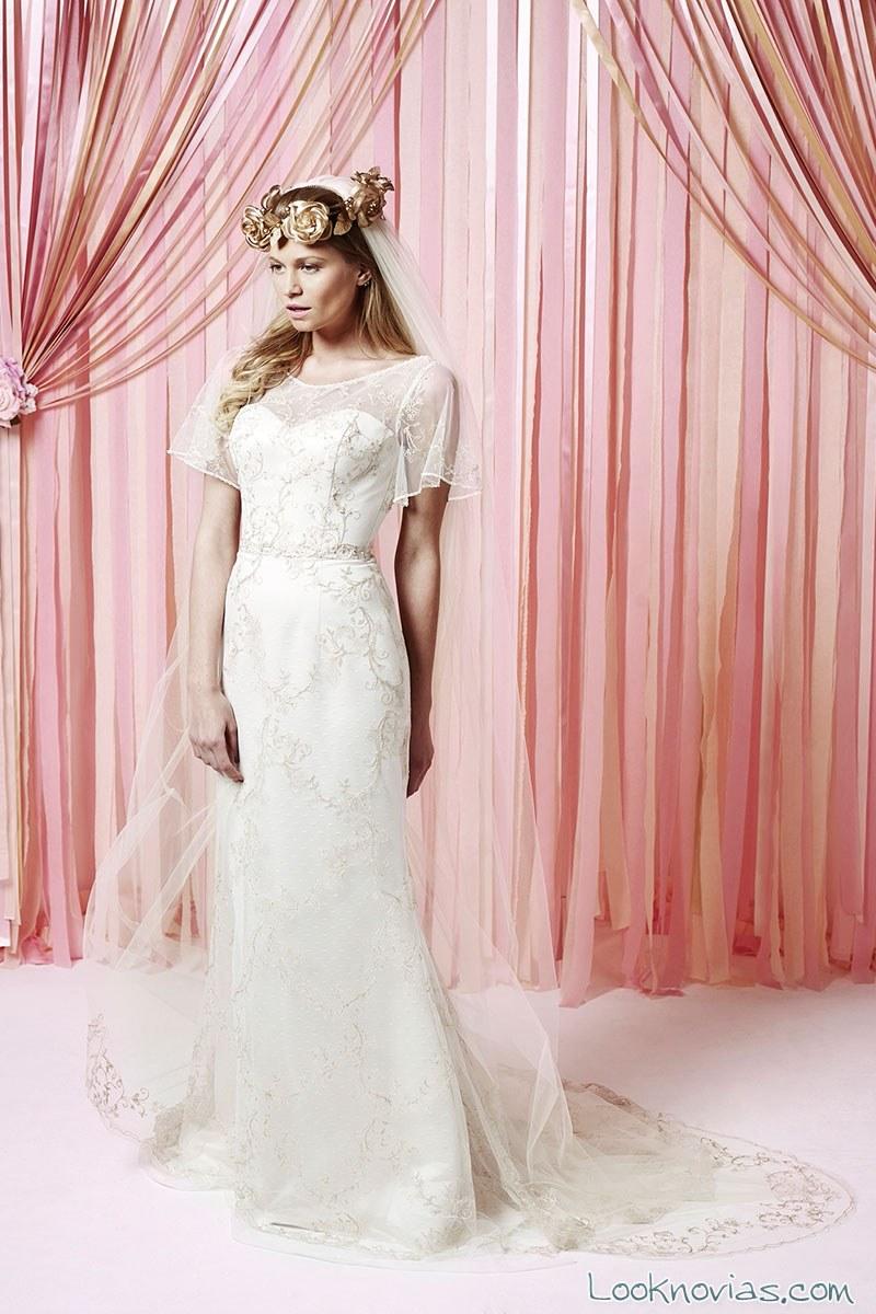vestido blanco manga corta charlotte balbier