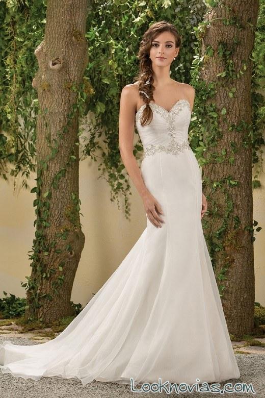 vestido blanco para novias de jasmine bridal