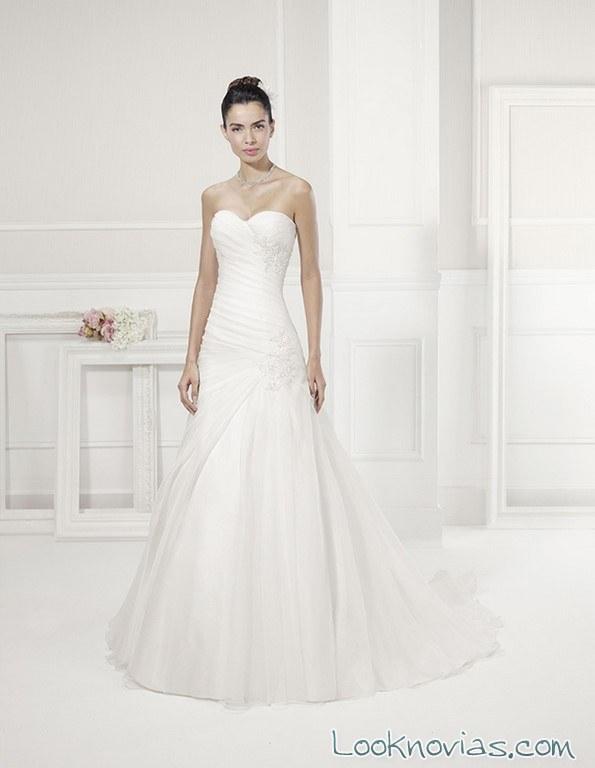 vestido blanco paradise de alma novia
