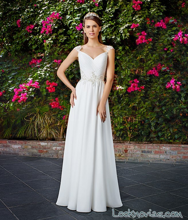 vestido blanco plisado moonlight tango