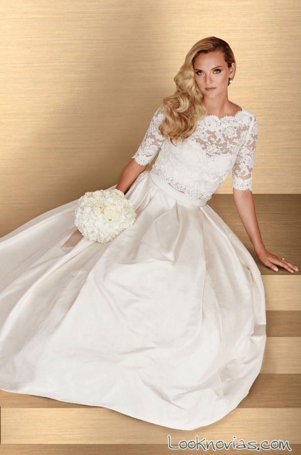 vestido blanco princesa con mangas