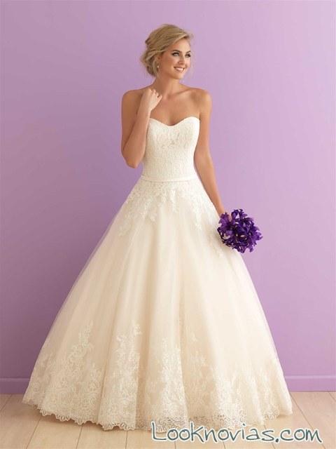 vestido blanco princesa elegante