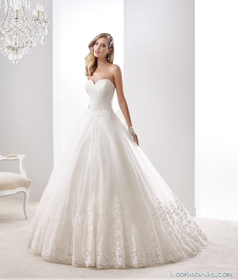 vestido blanco princesa para novias 2016