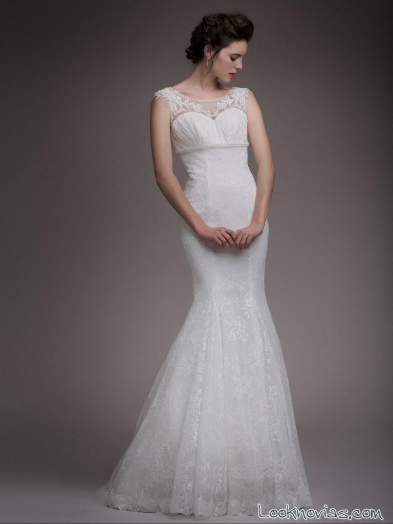 vestido blanco sirena blancary