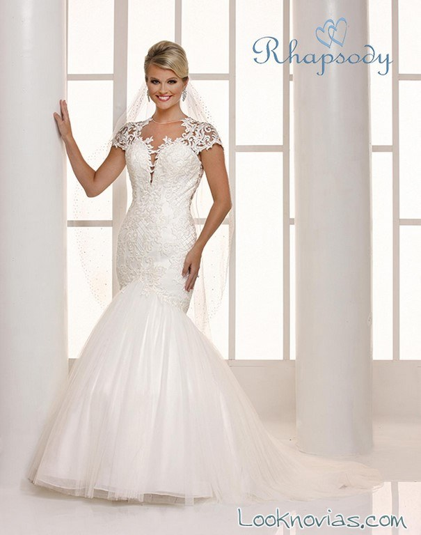 vestido blanco sirena rhapsody