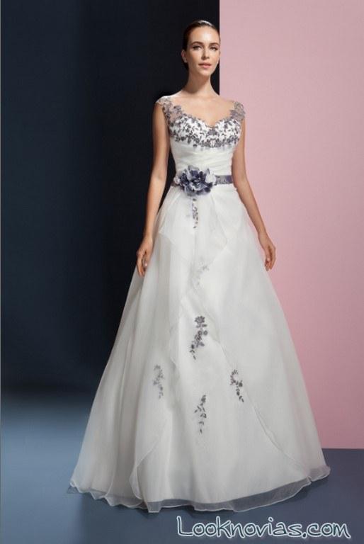 vestido bordados en color orea sposa 2017