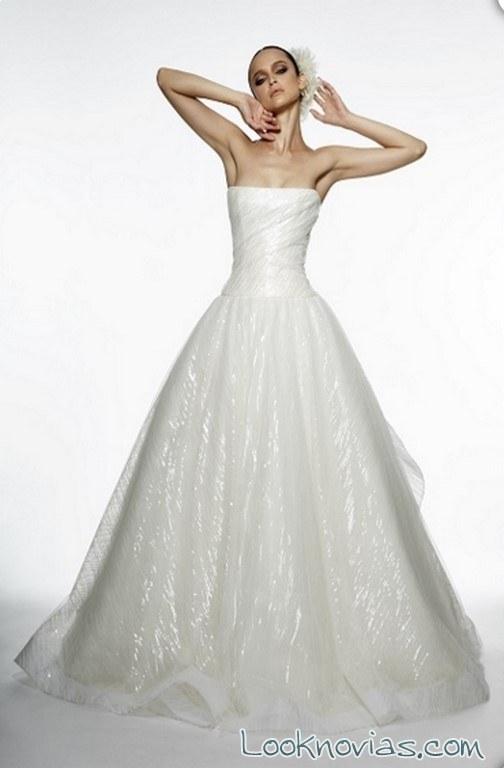 vestido brillante de novia edgardo bonilla