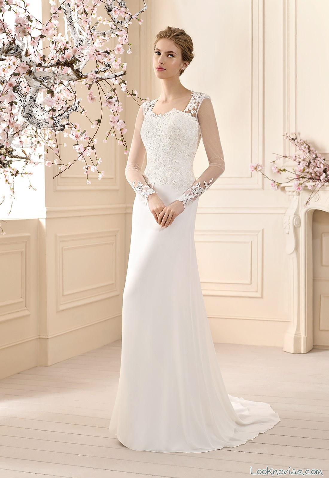 vestido cabotine recto y blanco