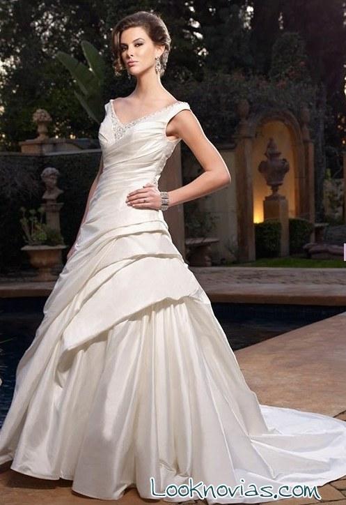 vestido cb couture con volantes