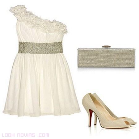 vestido corto blanco para fiesta de novias