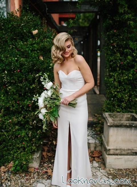 vestido con abertura en las piernas novias jennifer gifford