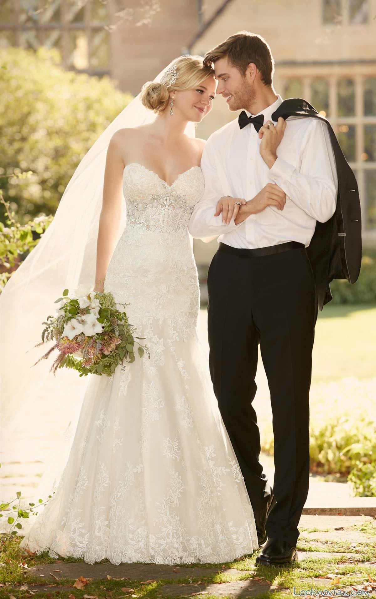 vestido con corpiño de novia essense of australia