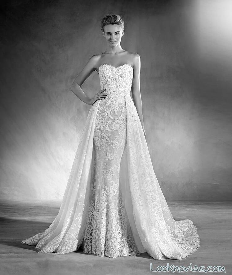 vestido con doble falda atelier pronovias 2017