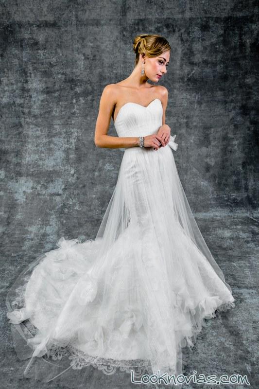 vestido con doble falda de isabelle armstrong
