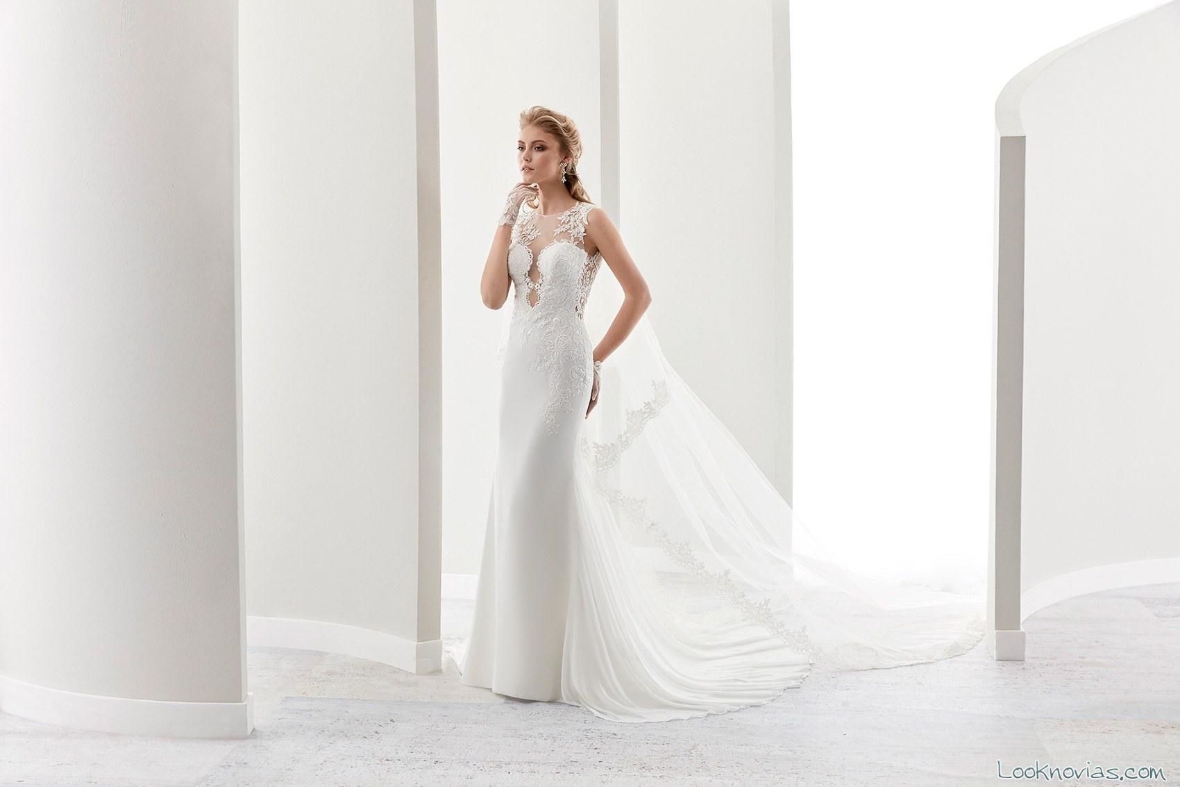 vestido con escote atrevido novias 2017