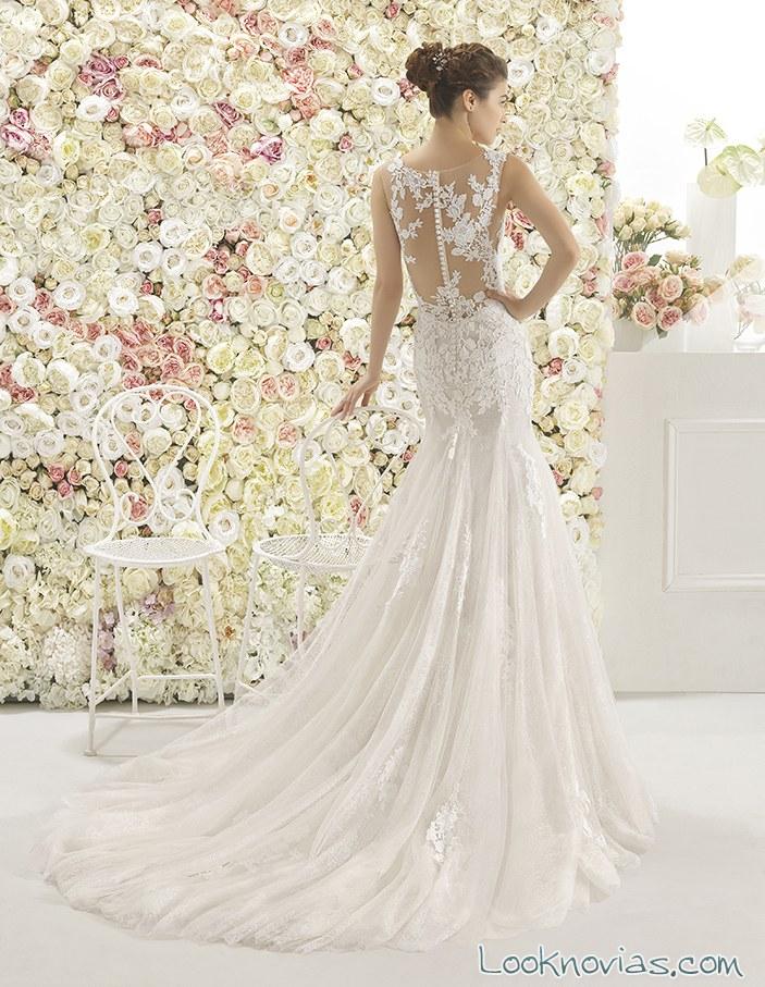 vestido con escote bordados novias 2017