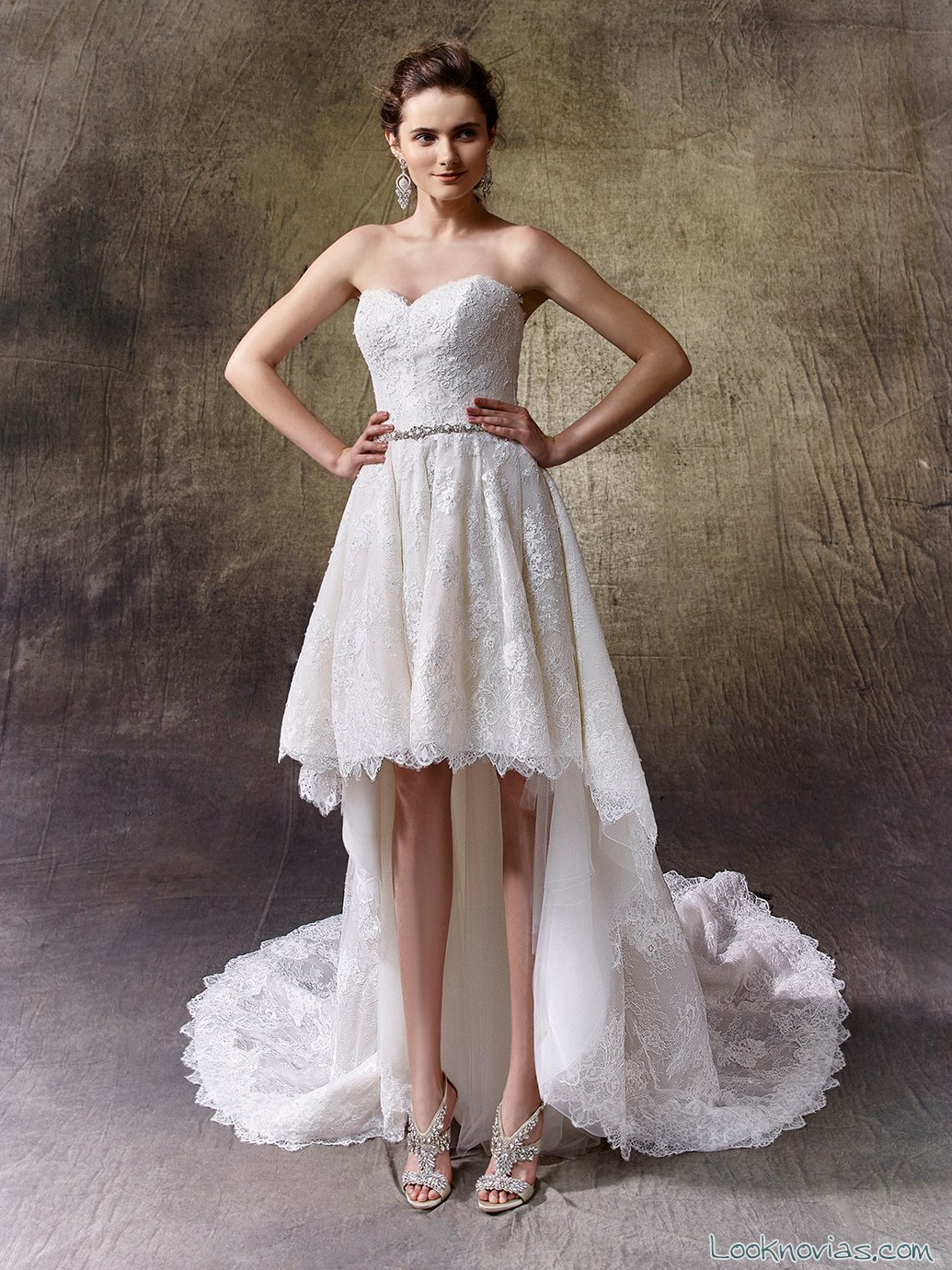vestido con falda asimétrica de enzoani