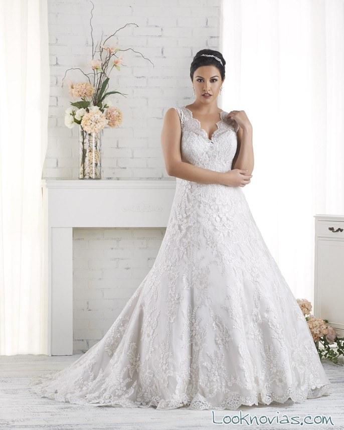vestido con falda de vuelo de bonny bridal