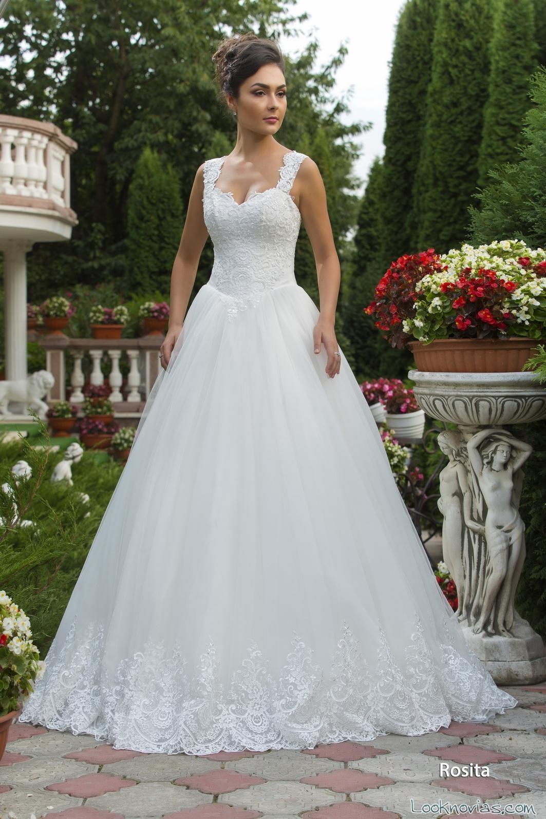vestido con tirantes richard sherman novias