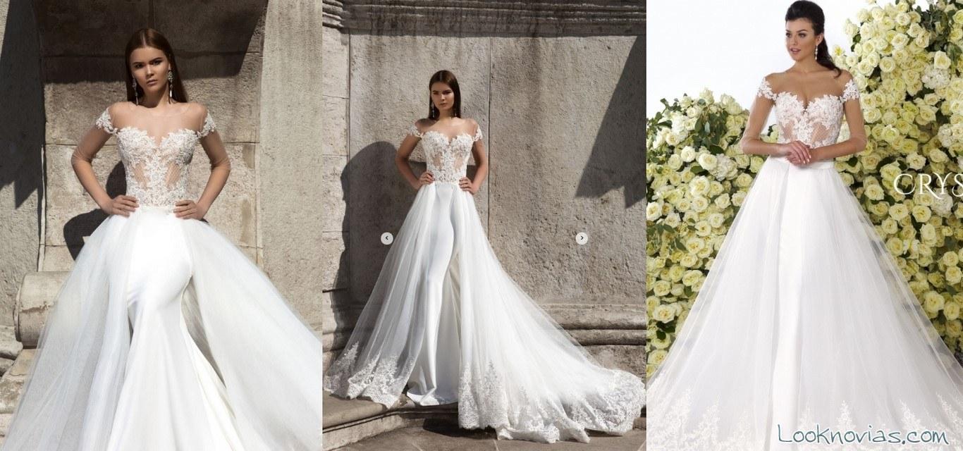 vestido con volumen novias 2017