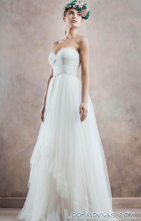 vestido corazón novias rochii de mireasa
